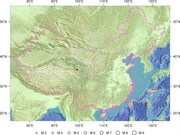 3月21日22时6分青海省海南州兴海县发生4.1级地震