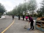 尖扎县人民法院责任片区卫生清理工作简报 - 法院